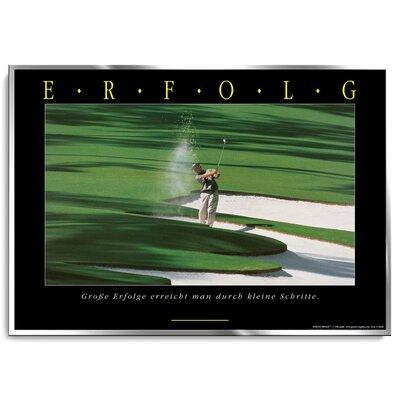 Positive Impulse Erfolg Golf Poster