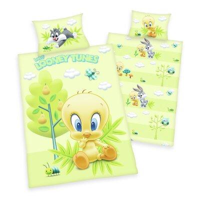 Herding Heimtextil Bettwäsche-Set Looney Tunes mit Reißverschluss aus 100% Baumwolle