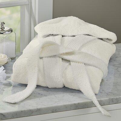 Huxley Turkish Cotton Hooded Bathrobe Color: Ivory