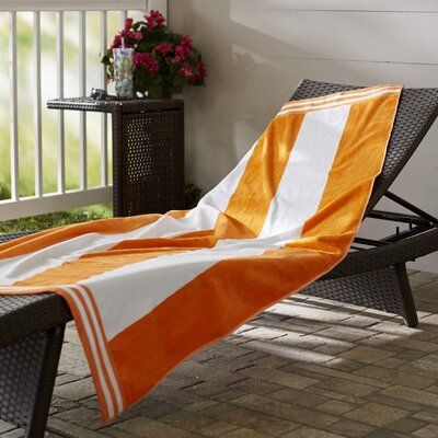 Wayfair Basics 100% Cotton Beach Towel Color: Orange