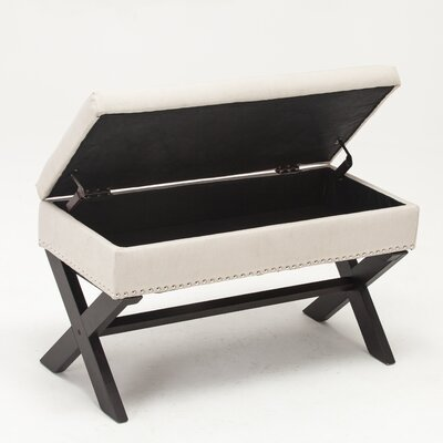 Storage Bench Color: Beige