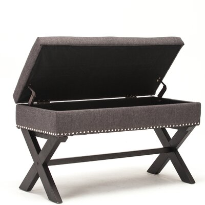Storage Bench Color: Gray