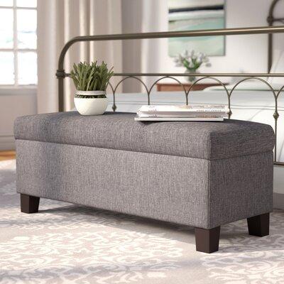 Wyncrest Upholstered Storage Bench Color: Gray