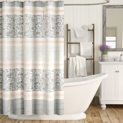 Chambery Cotton Shower Curtain Color: Blue