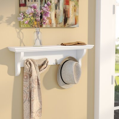 4 Hook Coat Rack Finish: White