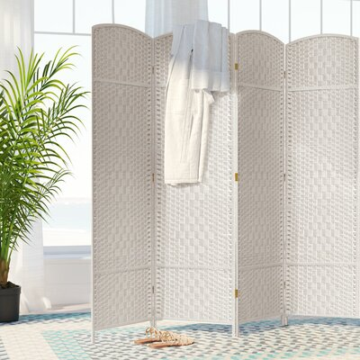 Nowayton 4 Panel Room Divider Color: White