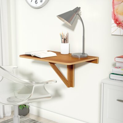 Eddie Wall Mounted Floating Desk Color: Cherry
