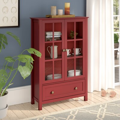 Valerie Tall Accent cabinet Color: Red