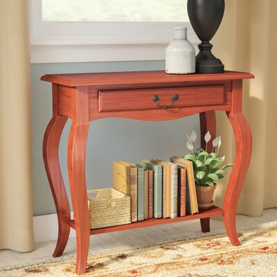 Apple Valley Console Table Color: Brown Cherry