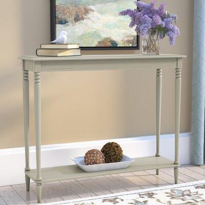 Adeline Console Table Color: Antique White