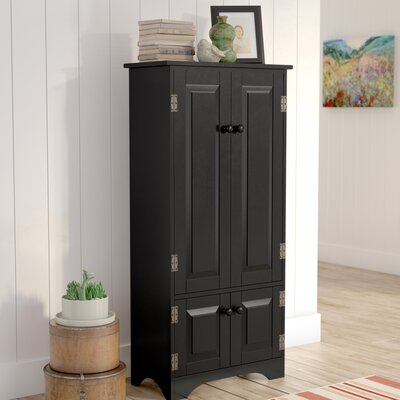 Abernathy 2 Door Accent Cabinet Color: Black