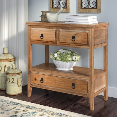 Velma Console Table Finish: Brown Pine