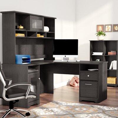Hillsdale 3 Piece L-Shaped Desk Set with Hutch & Bookcase Color: Espresso Oak