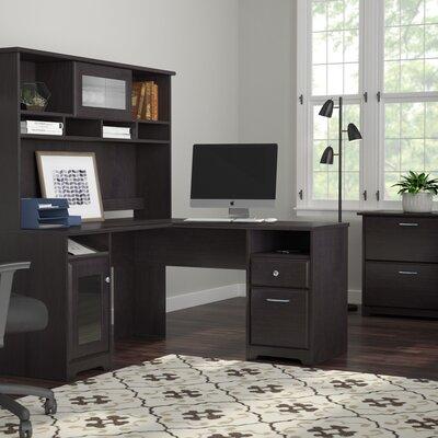 Hillsdale 3 Piece L-Shape Executive Desk Office Suite Color: Espresso Oak