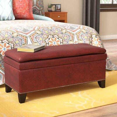 Edmundo Upholstered Storage Bench Upholstery: Red