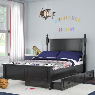 Belaview Platform Bed with Trundle Color: Black, Size: Twin