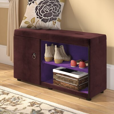 Argent Shoe Storage Bench Color: Brown