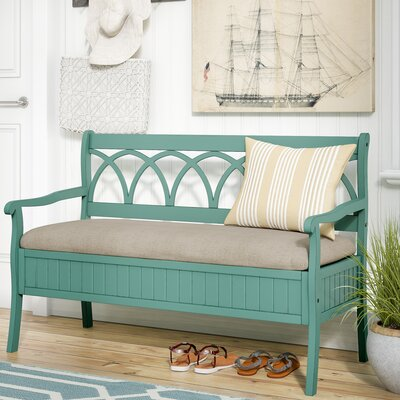 Channahon Storage Bench Color: Teal