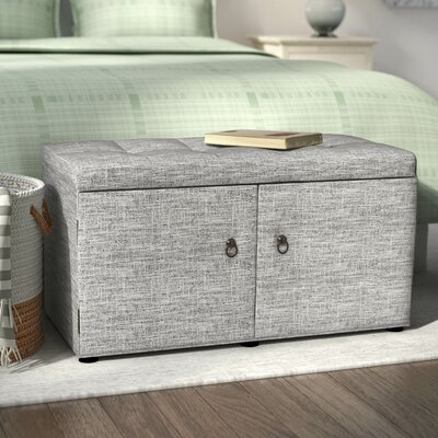 Argent Upholstered Shoe Storage Bench Color: Dove Gray