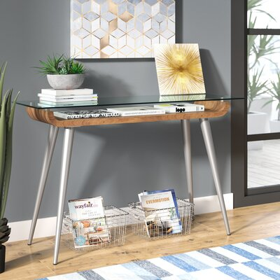 Jaylee Console Table Color: Brushed Silver