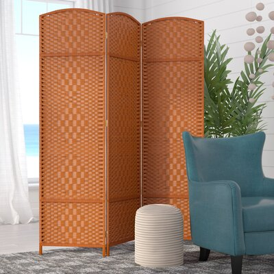 Waynefleet 3 Panel Room Divider Color: Dark Beige