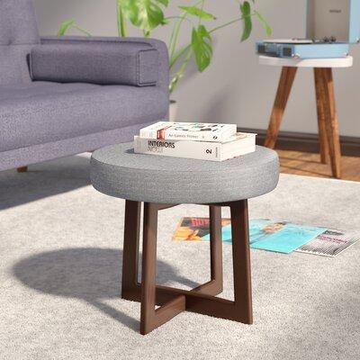 Washington Accent Stool Upholstery: Gray