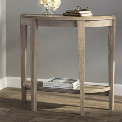 Blakeway Half Moon Console Table Color: Dark Taupe