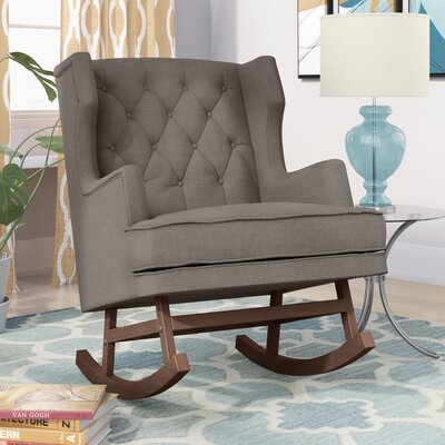Myrna Rocking Chair Upholstery: Gray