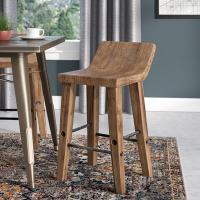"Feinberg Bar & Counter Stool Seat Height: Counter Stool (24"" Seat Height), Color: Honey Brown"