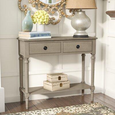 Odile Console Table Color: Gray