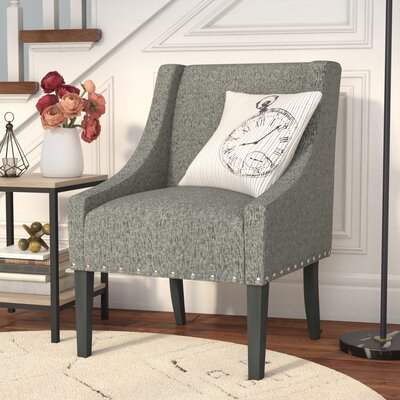 Londonshire Solid Swoop Armchair Upholstery: Sterling Gray
