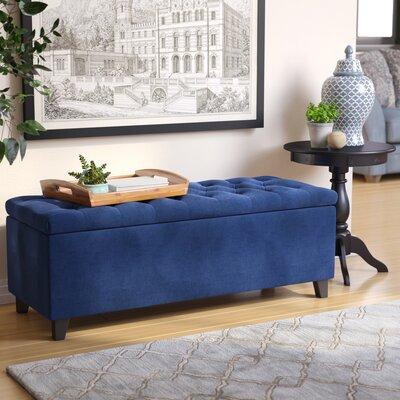 Darius Upholstered Storage Bench Upholstery: Navy