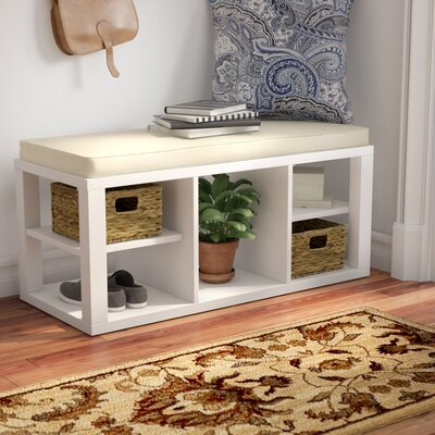 Annsville Wood Storage Bench Color: White