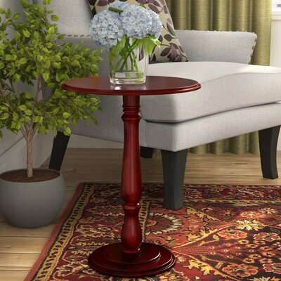 Stehle Pedestal Plant Stand Color: Cherry