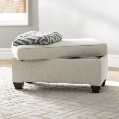 Sullins Upholstered Storage Bench Upholstery: Linen Talc