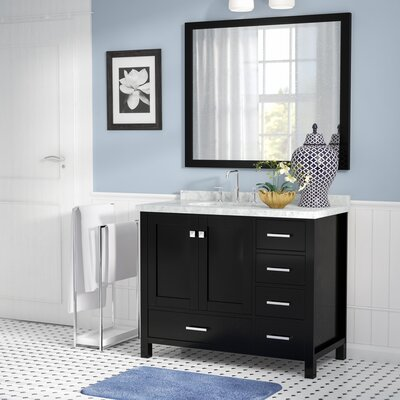 "Marine 43"" Wood Single Bathroom Vanity Set Base Finish: Espresso"