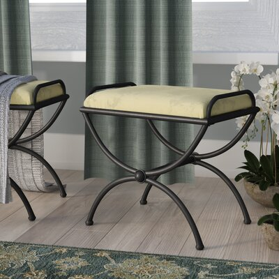 Blomberg Contemporary Iron Vanity Stool Color: Sage