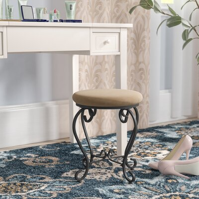 Steffes Round Iron Vanity Stool Color: Java