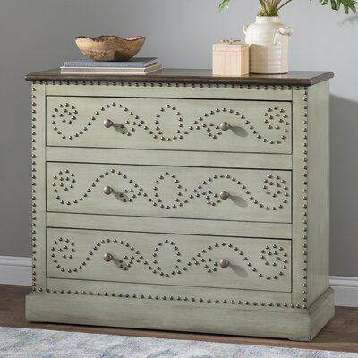 Gregory 3 Drawer Accent Chest Color: Gray