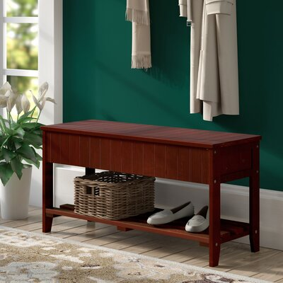 Rumford Wood Storage Bench Color: Cherry