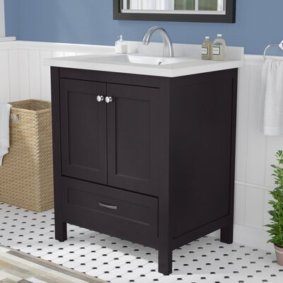 "Maldonado 30"" Single Bathroom Vanity Set Top Finish: Espresso"