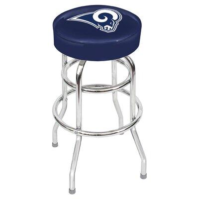 "NFL Team 30"" Bar Stool Upholstery: Blue, Team: Los Angeles Rams"