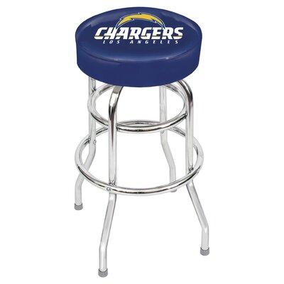 "NFL Team 30"" Bar Stool Upholstery: Blue, Team: San Diego Chargers"