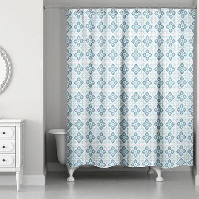 Fairfield Tile Pattern Shower Curtain Color: Turqouise