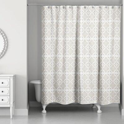 Fairfield Tile Pattern Shower Curtain Color: Beige