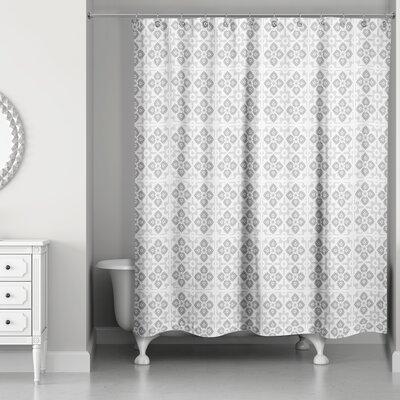 Fairfield Tile Pattern Shower Curtain Color: Gray