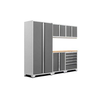 Pro 3.0 Series 6 Piece Storage Cabinet Set Finish: Platinum, Worktop Material: Bamboo