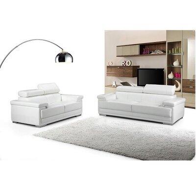Hendren Configurable Living Room Set Upholstery: White