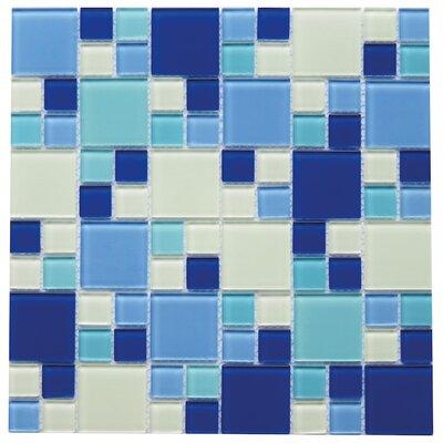 """Gaiola 2"""" x 2"""" Glass Mosaic Tile in Blue"""