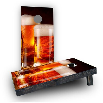 Double Beer Mugs Cornhole Boards Bag Fill: Heavier Boards with All Weather Bags